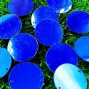 Sequins, Dark blue, 29mm, 22 pieces, 5g, Round shape, Sequins are shiny, [CZP677]
